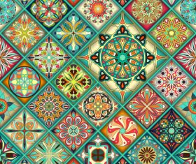 Vintage decorative pattern combination vector 01