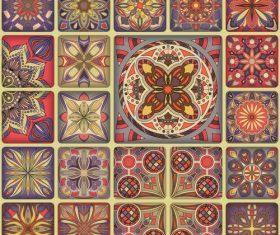 Vintage decorative pattern combination vector 02