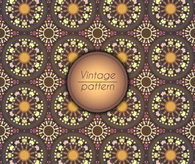Vintage seamless pattern template vector 06