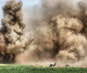 War reporter Stock Photo
