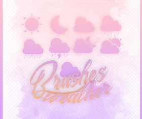 Weather Pink photoshop brushes