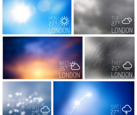 Weather symbols and app Interface vector 06
