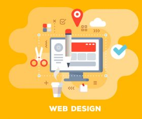 Web design business flat template vector