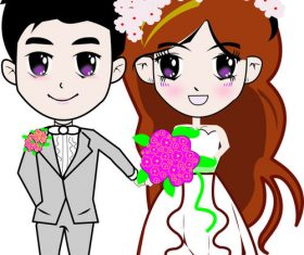Wedding comics vector