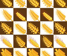 Wheat pattern design vector 02