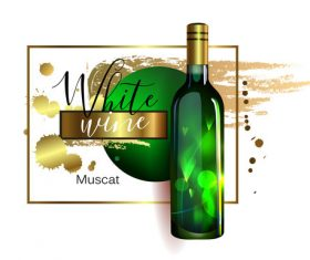 White wine poster template material 01
