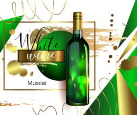 White wine poster template material 02