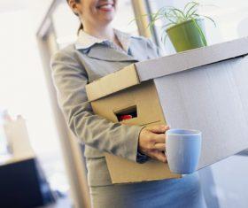 Woman resigns Stock Photo