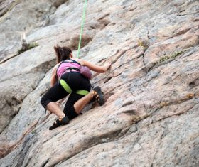 Woman who loves outdoor climbing Stock Photo 04