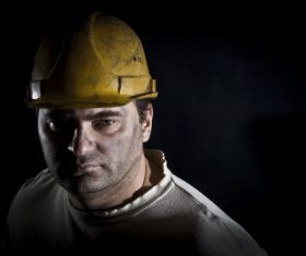 Worker wearing hard hat Stock Photo 01