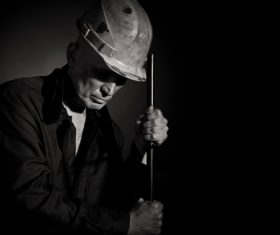 Worker wearing hard hat Stock Photo 02