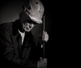 Worker wearing hard hat Stock Photo 02