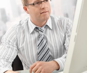 Working free-lance the computer Stock Photo 01