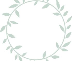 Wreath hand drawn vector 02