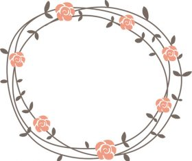 Wreath hand drawn vector 03