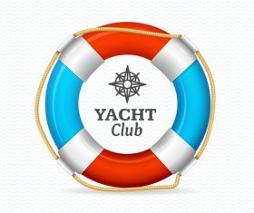 Yacht club sign vector