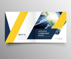 Yellow styles business brochure template vector 01
