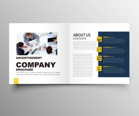 Yellow styles business brochure template vector 03