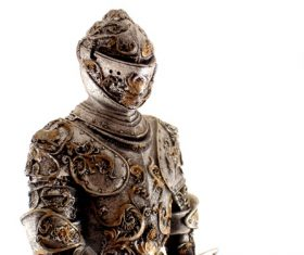 ancient metallic armour Stock Photo