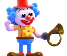 clown horn cartoon vector 01