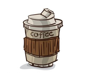 coffee hot cup illustration vector