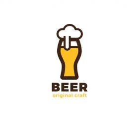 craft beer glass logo vector