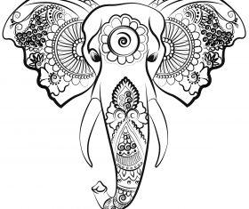 elephant line art vector