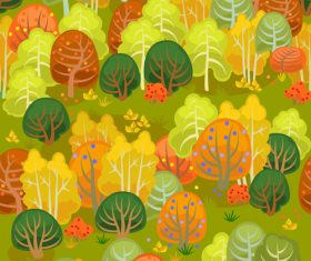 forest autumn seamless pattern vector 01