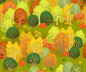 forest autumn seamless pattern vector 01