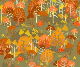 forest autumn seamless pattern vector 02