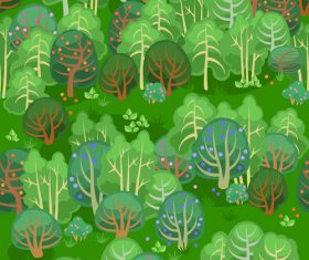 forest summer seamless pattern vector