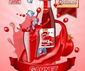 garnet juice advertising poster vector
