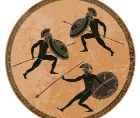 greece antiquity round background vector 01