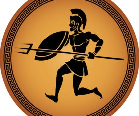 greece antiquity round background vector 02