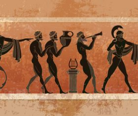 greece antiquity styles background vector 01