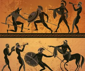greece antiquity styles background vector 02