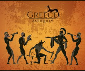 greece antiquity styles background vector 03