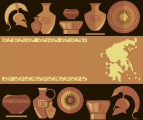 greece antiquity styles background vector 04