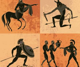 greece antiquity styles background vector 05
