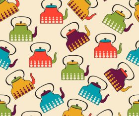 kettle seamless pattern vector