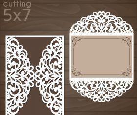 laser cutting floral card vector template 09