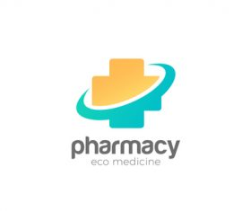 medical cross clinic pharmacy logo vector