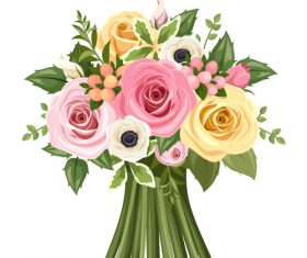Roses flowers bouquet 01