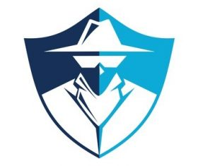 shield detective sign vector