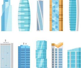 skyscrapers illustration vector 01