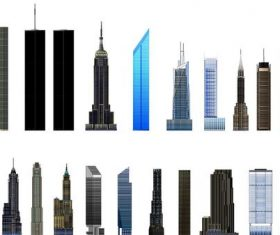 skyscrapers illustration vector 02