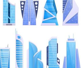 skyscrapers illustration vector 03