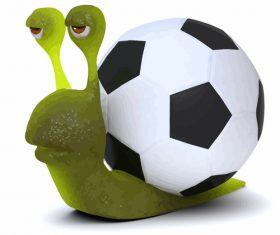 snail football cartoon vector