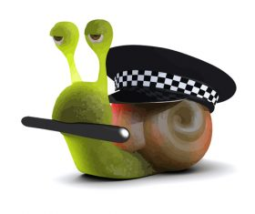 snail police cartoon vector