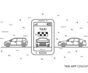taxi app concept design vector 01